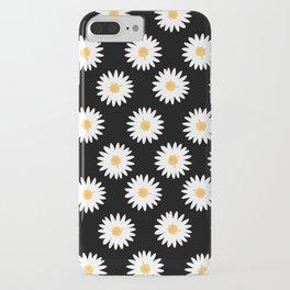 Daisy black pattern iPhone Case