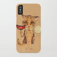cheshire cat iPhone & iPod Cases featuring Cheshire Cat by baba yagada