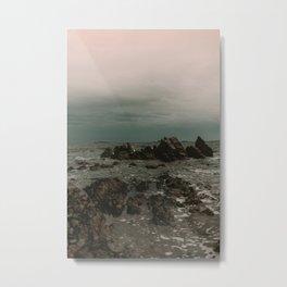 Dark Blue Rocky Ocean Metal Print