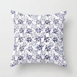 Stencilled flowers Throw Pillow