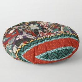 Kabuki Samurai Warriors Floor Pillow