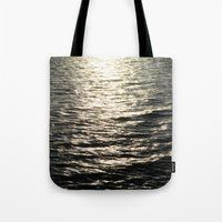uncharted Tote Bags featuring Hope and Fear by RichCaspian