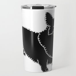 I have Connected the Pembroke Welsh Corgi Doggy Dots! Travel Mug