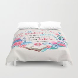Reading can take you places Duvet Cover