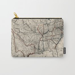 United States - Map including Louisiana - 1818 Carry-All Pouch
