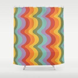Rainbow Stripes 2 Shower Curtain