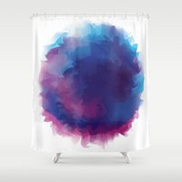 watercolour Shower Curtains featuring watercolour by HelloDarlingDesign
