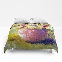 Sunflower vase Comforters