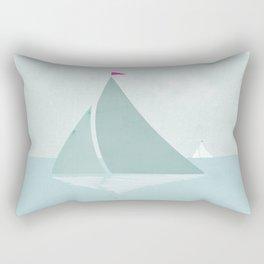Peaceful seascape with sailboats Rectangular Pillow