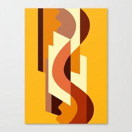 SUISSE - Art Deco Modern: AUTUMN ORANGE Canvas Print