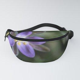 Tiny purple star flower Fanny Pack