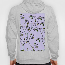 A Wild Berry Vine, Black Berries, Spring Fruit Hoody