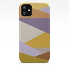 Earthy Autumn Colors Abstract Shapes iPhone Case