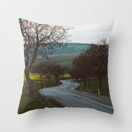 Along a rural road - Landscape and Nature Photography Throw Pillow