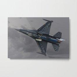 f-16 mlu belgian air component Metal Print