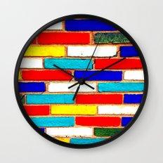 Vibrant Brick Wall Clock