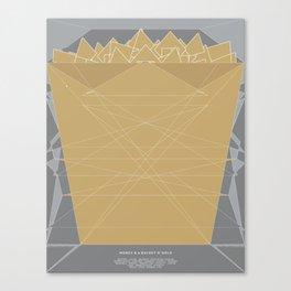 Fragments: Money & A Bucket'O'Gold Canvas Print