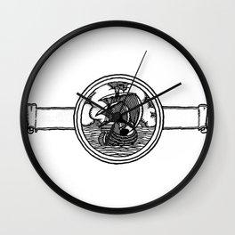 Ship stamp Wall Clock