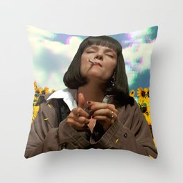 Someplace Else Throw Pillow