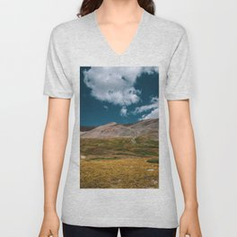 Sunny Afternoon in Colorado Mountains - Mt. Bross 1 Unisex V-Neck