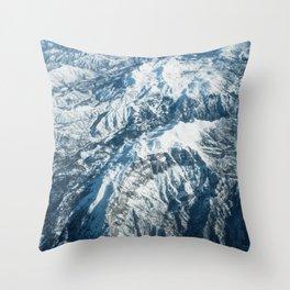 Snow mountains Throw Pillow