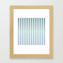 Mindful pinstripes Framed Art Print