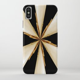 Black, White and Gold Star iPhone Case