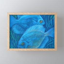 Blue discuses Framed Mini Art Print