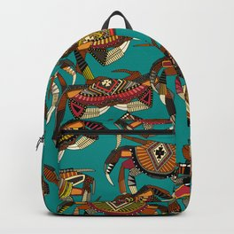 crabs teal Backpack