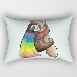 the gay hero sloth Rectangular Pillow