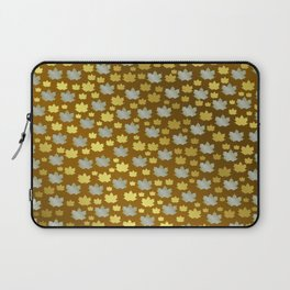 gold, silver, metal shiny maple leaf on shimmering texture Laptop Sleeve