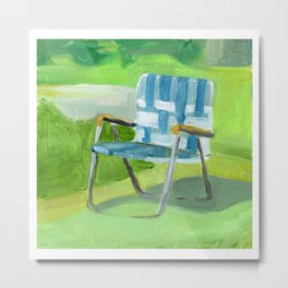 LAWN CHAIR Metal Print