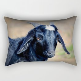 Black Goat Rectangular Pillow