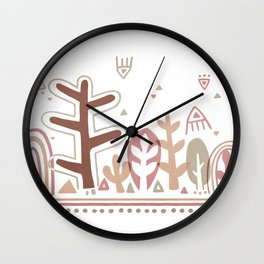 Red Forest Wall Clock