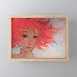 Pink Hair Framed Mini Art Print