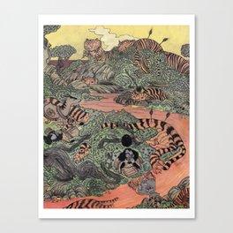 Mu Guai and the Tiger's Eye, Panel 7 Canvas Print