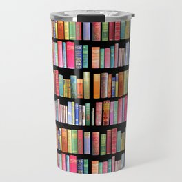 Vintage Book Library for Bibliophile Travel Mug