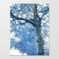 sia Canvas Prints featuring Magic Blue Tree by Joke Vermeer