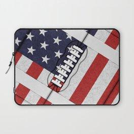 4th of July American Football Fanatic Laptop Sleeve