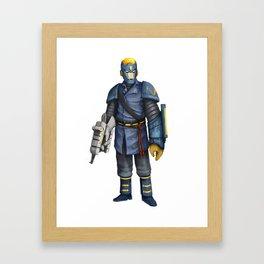 Flash Man Framed Art Print