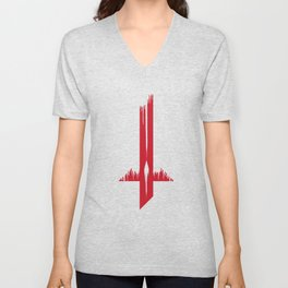 Blackblood Cross Unisex V-Neck
