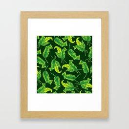 Tropicana Leaves Framed Art Print
