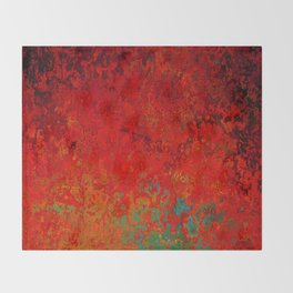Figuratively Speaking, Abstract Art Throw Blanket