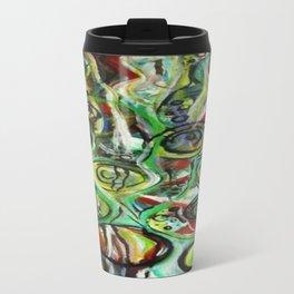 Through the Vine Abstract Watercolor Rasta Painting Travel Mug