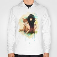 hearts Hoodies featuring Fox Love by Ariana Perez