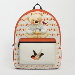 Bear drinking Tea with Honey Backpack