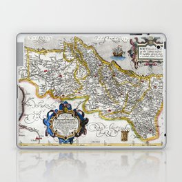 Map of the Kingdom of Portugal by Abraham Ortelius, dated 1560 Laptop & iPad Skin