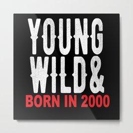20 Years 20th Birthday 20th Birthday Gift Idea Metal Print