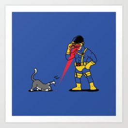 Cats & Lasers Art Print