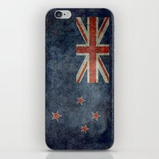 New Zealand Flag - Grungy retro style iPhone & iPod Skin